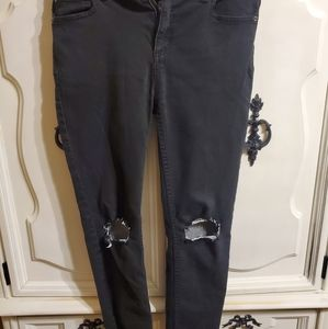 FreePeople Black Ripped Jeggings 29